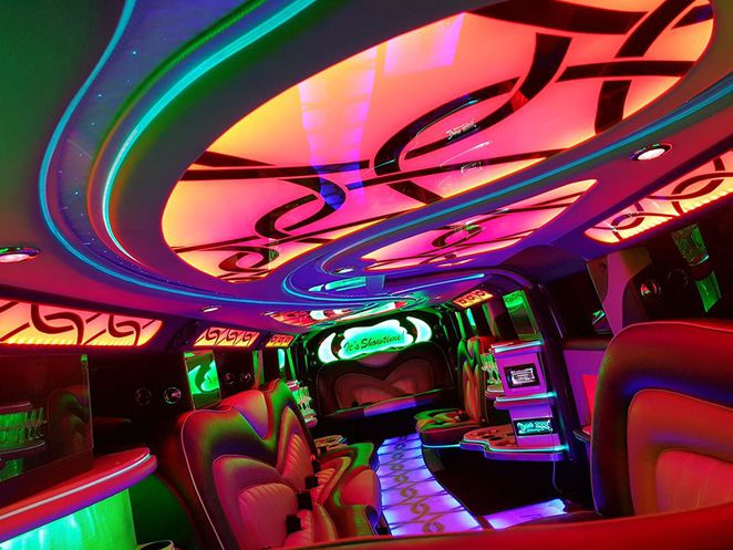 showtime limos, arrive in style, 13th birthday party idea, purple hummer,