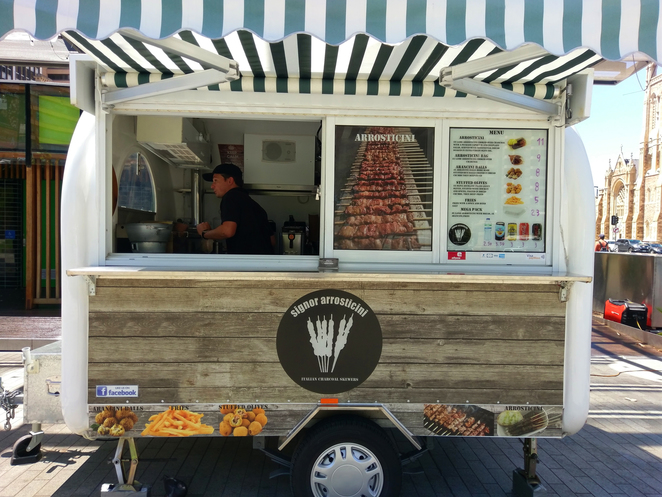Signor Arrosticini Adelaide South Australia Food Truck Grilled Lamb Lunch Snack Savoury Meat