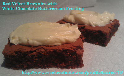 Sinfully Sweet Red Velvet Brownies with White Chocolate Frosting