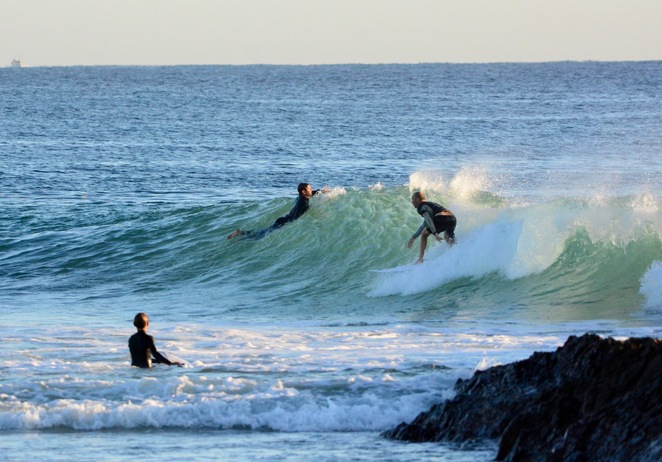 Snapper Rocks is the point break that forms the first part of a man-made, 2km, superbank