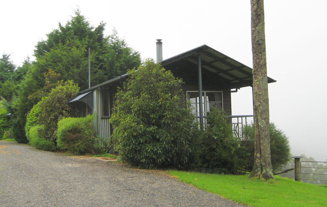 Spring Creek Mountain Cottages sit on the side of the mountain providing great views without having to get out of bed