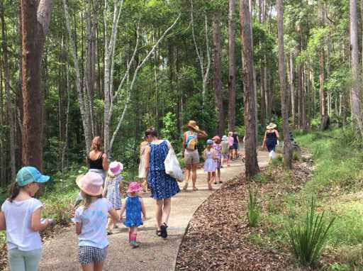 Summertime Playscape, Maroochy Regional Bushland Botanic Garden, outdoor adventuring, creating, connecting, nature, bushland, muddy, musical, crafty, colourful, summer holidays, daily activities, down and dirty, installations, challenges, workshops, free play, low cost, tiny village of mud houses, giant xylophones, Great Botanic Race, sculptures, labyrinth, Tiny Cob Village Construction Workshops, Flag Painting, Summer Lantern Making, Summer Labyrinth and Craft, First Nations Games Day, Kung Zone Water Fights, Eco-Games and Bushwalks, Cat's Claw Weaving, Pom-Pom Palace, explore, create, connect