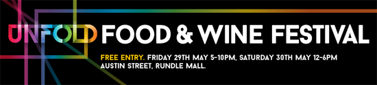 Unfold, Food and wine festival, rundle mall, event, food and wine, adelaide