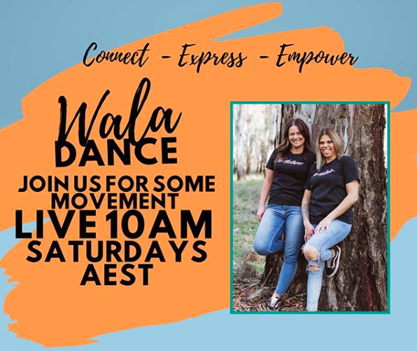 Wala Connections, Wala Dance, movement, dancing, sessions, free, first nations, culture, online, Instagram live, Zoom, Saturday