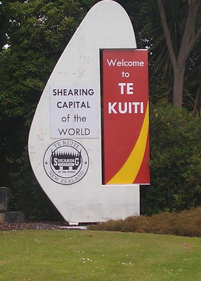 Welcome to Te Kuiti, Sheep Shearing Capital of the World