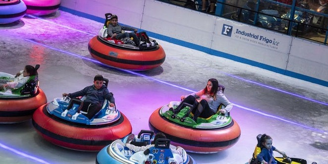 winter melbourne bumper cars ice