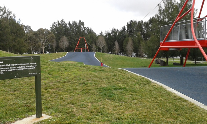 yerrabi ponds playground, gungahlin, canberra, act, best playgrounds in gungahlin, ACT, flying fox,