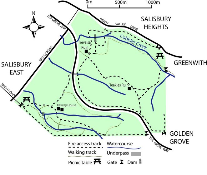 Map of Cobbler Creek Reserve