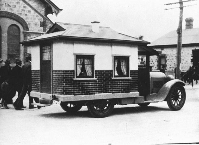 adelaide firsts, first in adelaide, first in australia, state library sa, south australia, in adelaide, in australia, caravan, motor home