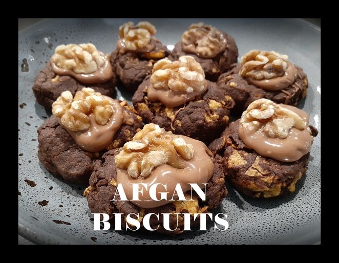 Afgan biscuits, recipe, new zealand, traditional, butter, flour, sugar, cocoa, nestle choc bits, recipes, biscuit, biscuit recipes, new zealand recipes, walnuts, vanilla essence, kiwi, recipes, traditional, easy, cookies,