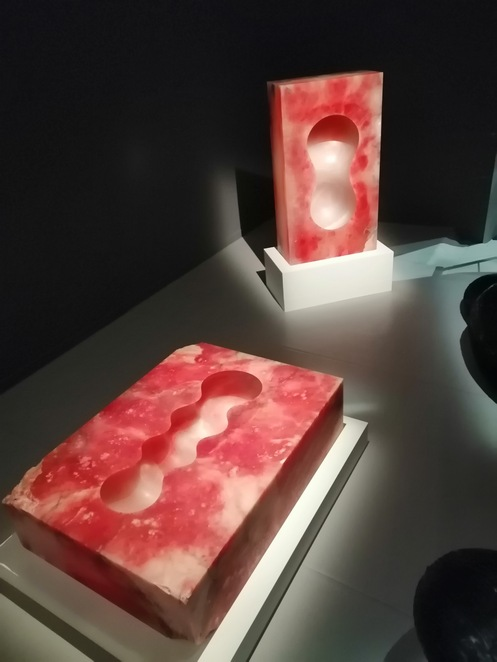 art, contemporary, Rome, red, alabster