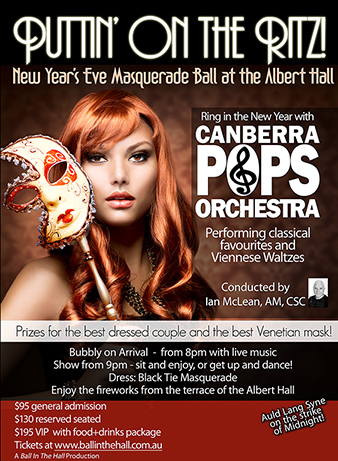 ball in the hall 2015, canberra new years eve events, albert hall, balls in canberra,