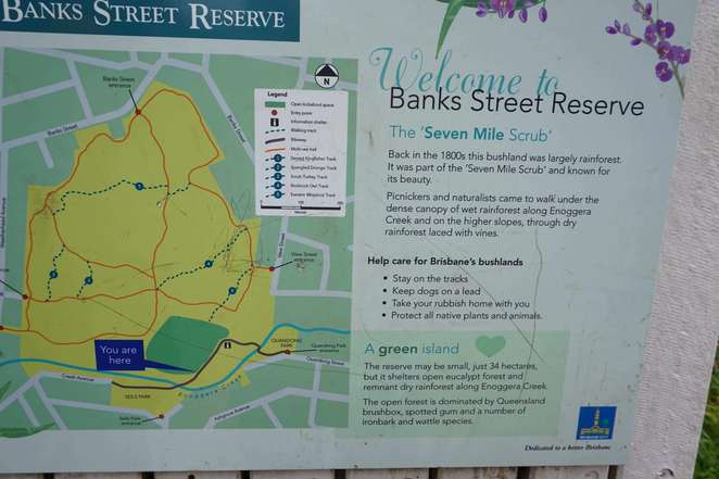 Banks Street Reserve Map