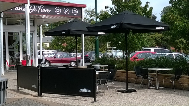 cafe, coffee, Narre Warren North, cafe umbrellas, Pane di Fiore,