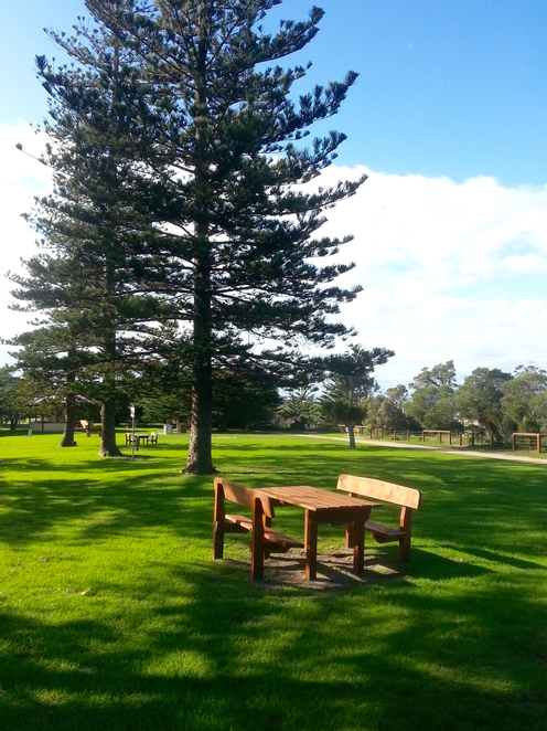 citizen's Park, Queenscliffe, Queenscliffe foreshore Reserve, Playground, Picnic spot, BBQ, public bbq, barbecue, electric barbecues, recreation, park, foreshore, bellarine, picnic tables,