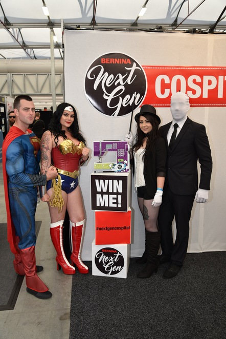 Cosplay, Oz Comic Con Brisbane, Comic Con, Wonder woman, Slender Man, Sewing machine