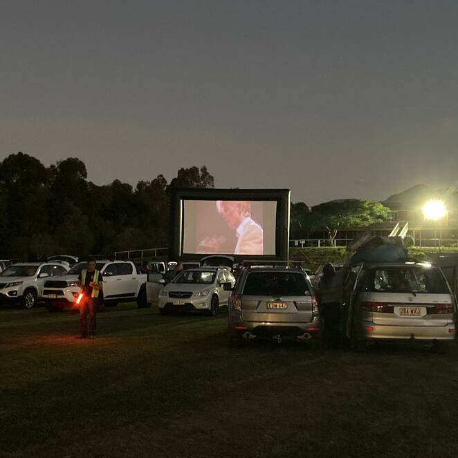 Family friendly double feature, Eumundi Drive-In, Starry Nights Outdoor Movies, memorable, cult classic screenings, Mad Max Double Feature, The Imperial Hotel, The Princess Bride, The NeverEnding Story, love, adventure, fantasy, social distancing, contactless entry, pre-purchase tickets, Sala Thai, Il Mio Posto, Friday night entertainment