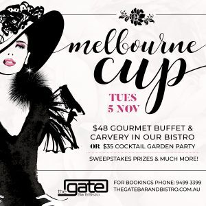 the gate, melbourne cup, lunch, bar, bistro, food,
