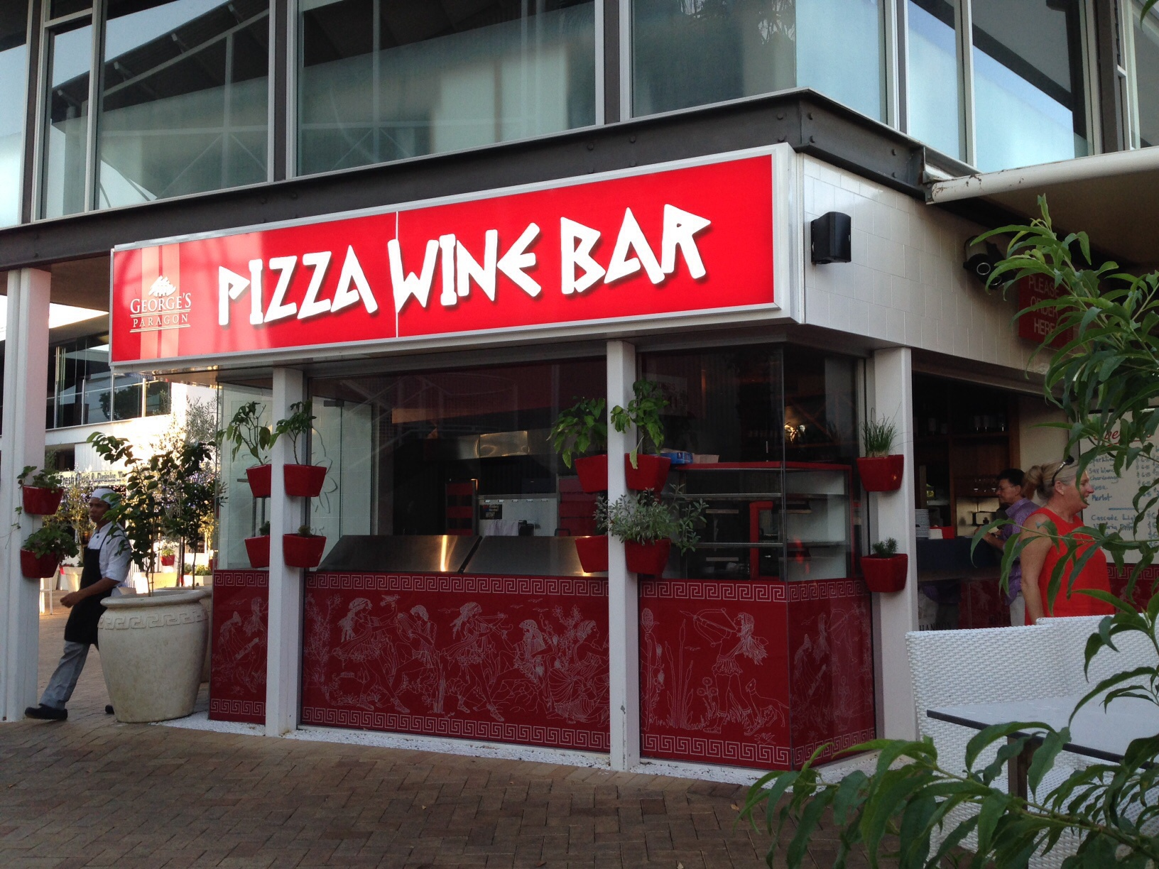 Georges paragon pizza wine bar gold coast for Food bar virgin east coast