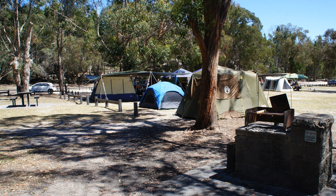 Camping is an option when visiting the Granite Belt Art Trail