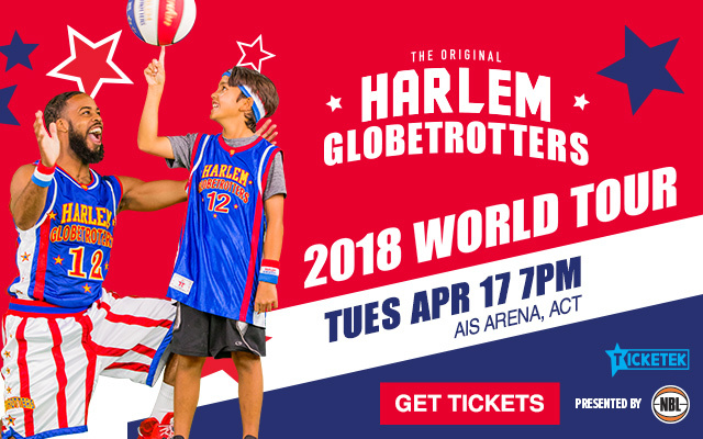 harlem globetrotters, canberra, bruce, AIS, school holidays, ACT, 2018, april, family friendly events,