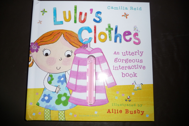 Lulu's clothes, toddler books, board books, books for toddlers