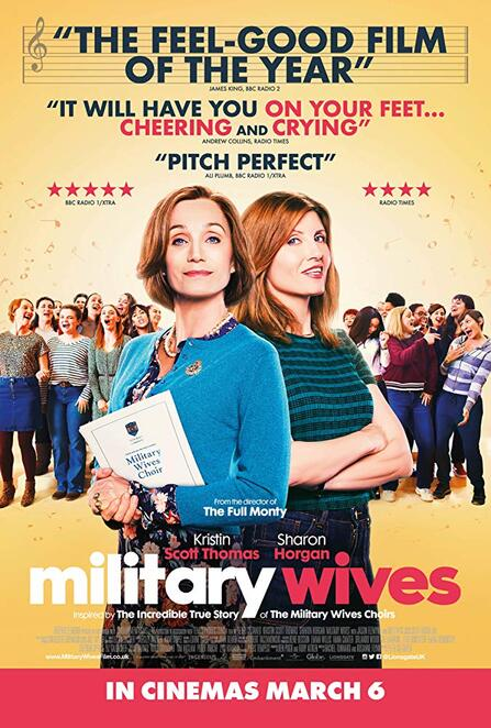 military wives 2020, community event, family friendly, cinema, movie buffs, performing arts, acting, actors, actresses, peter cattaneo, film review, movie review, british film, english film, kristin scott thomas, sharon horgan, jason flemyng, choir, comedy, sad