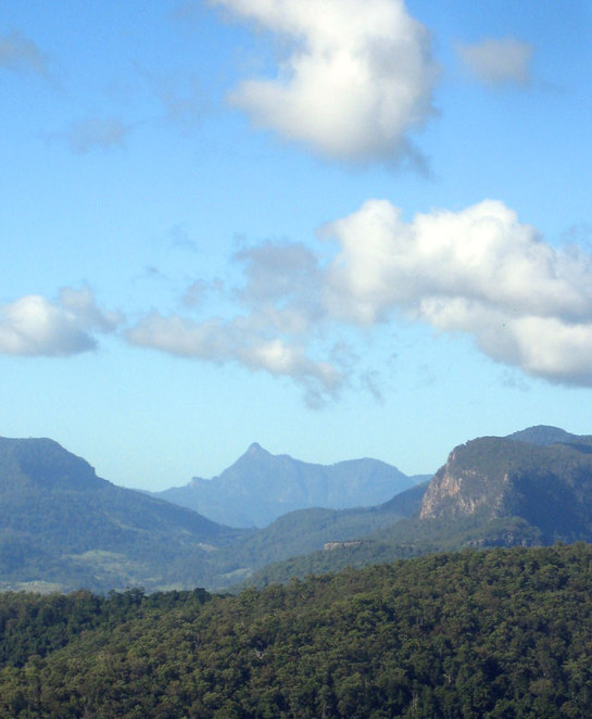 You can see the steep peak of Mt Warning that you have to climb up
