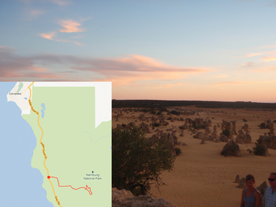 Nambung, National, Park, Pinnacles, Desert, Hansen, Road, Cervantes, drive