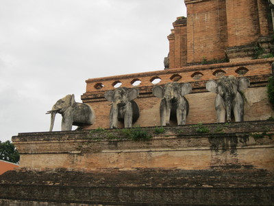 Old Chedi with Elephant detail