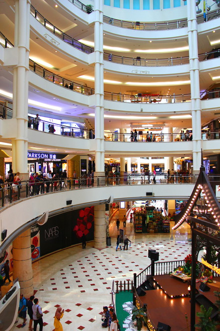 Ramlee Mall Suria KLCC an impressive shopping centre in Kuala Lumpur adjacent the Twin Towers