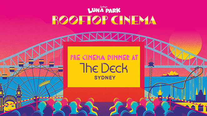 rooftop cinema, luna park, the deck milsons point