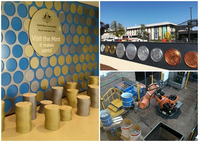 royal australian mint, canberra, things to do in deakin, coins, money, kids, family friendly, tourist attractions, things to do, denison street,