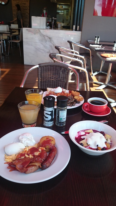 Rydges South Park Hotel Adelaide Accommodation Breakfast Cafe The Deck
