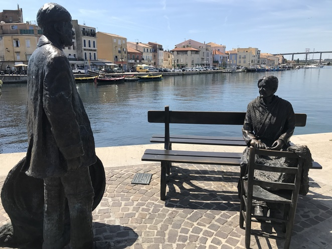 Sculptures in bronze at Martigues