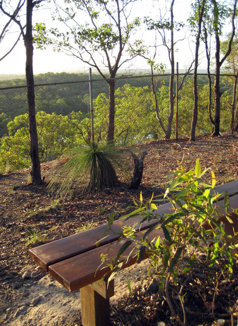 The bench on top of Milne Hill Reserve
