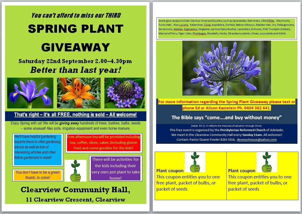 Spring Plant Giveaway Adelaide