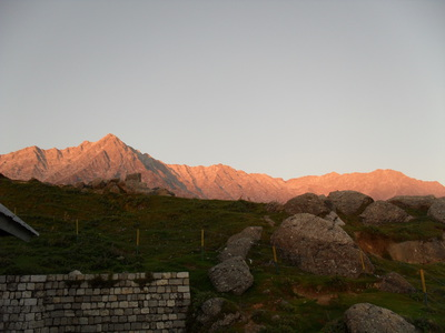 Sunset mountains, Triund, Mcleod Ganj, Dharamsala, trek