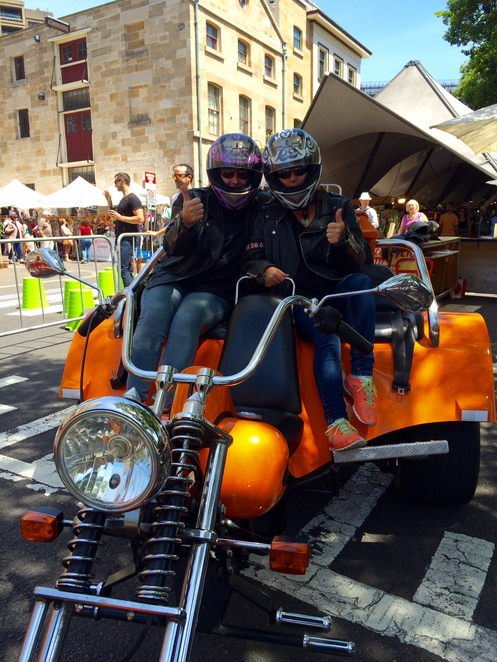 Sydney bike trike, motorcycle tours
