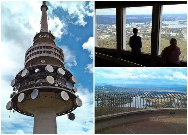tesltra tower, canberra, views, lookouts, outdoor viewing platform, cafe, best views in canberra, ACT