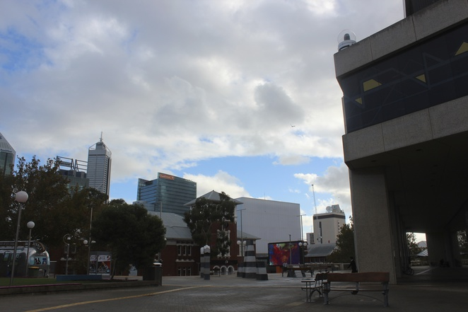 The Big Screen Perth Cultural Centre between PICA and the library