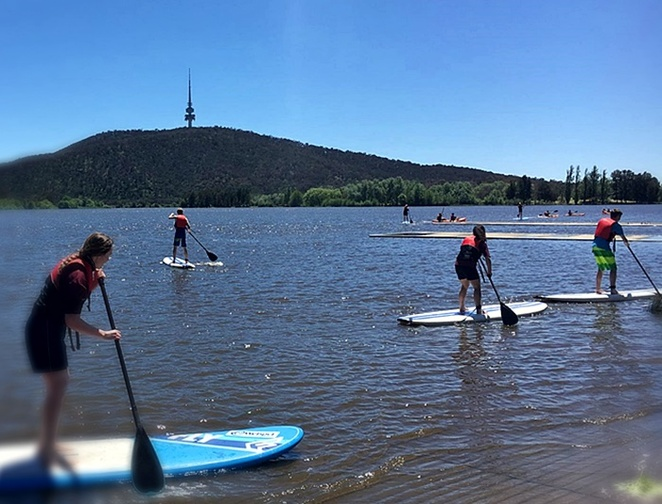 the paddle HUB, exercise, canberra, SUP, kayaks, hire, ACT, lake burley griffin, exercise ideas, summer,