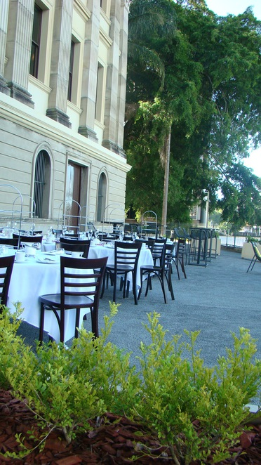 The terrace at Customs house