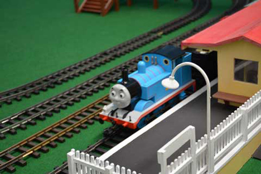 Thomas the Tank is chuffing around his favourite track