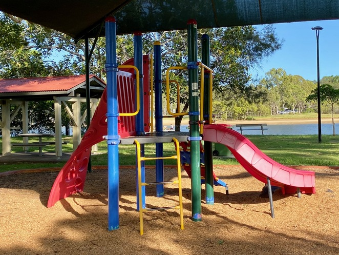 A smaller playground at the western end of Winders Park