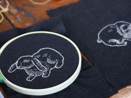 Bats of Leisure Embroidery Circle