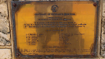 4Centenary of Federation Memorial Plaque