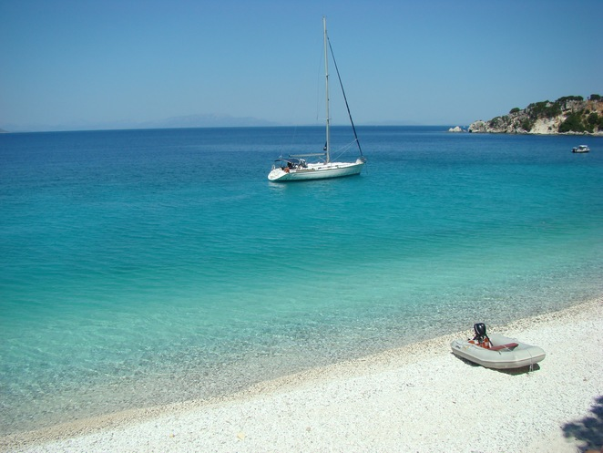 A beach on Ithaki