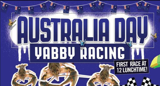 Australia Day 2016 Eatons Hill yabby race cockroach race long weekend