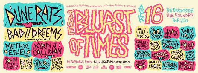 Blurst of Times Festival 2016 gig guide fortitude valley april